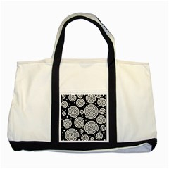Black and white hypnoses Two Tone Tote Bag