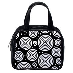 Black and white hypnoses Classic Handbags (One Side)