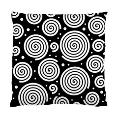 Black and white hypnoses Standard Cushion Case (One Side)