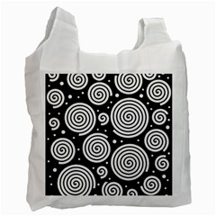 Black and white hypnoses Recycle Bag (Two Side)