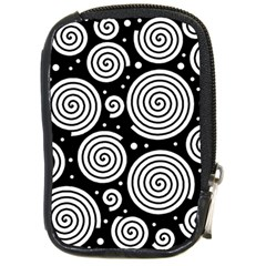Black and white hypnoses Compact Camera Cases