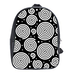 Black and white hypnoses School Bags(Large)