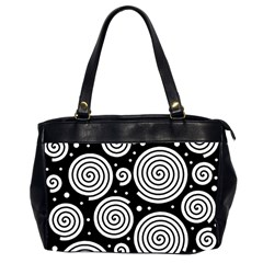 Black and white hypnoses Office Handbags (2 Sides)