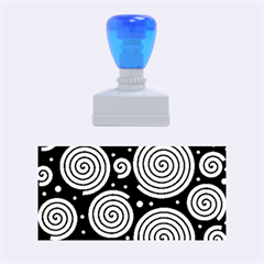 Black and white hypnoses Rubber Stamps (Medium)