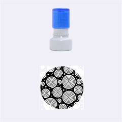 Black and white hypnoses Rubber Round Stamps (Small)