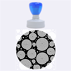 Black and white hypnoses Rubber Round Stamps (Large)