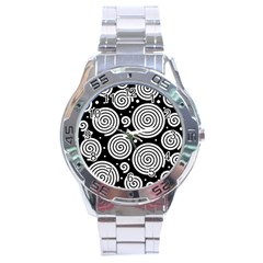 Black and white hypnoses Stainless Steel Analogue Watch