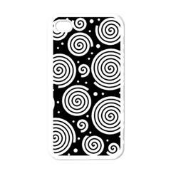Black and white hypnoses Apple iPhone 4 Case (White)