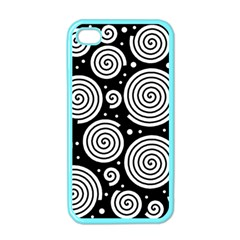 Black and white hypnoses Apple iPhone 4 Case (Color)