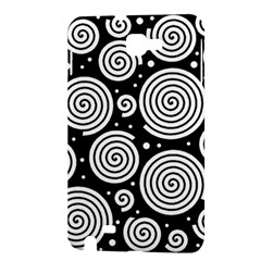 Black and white hypnoses Samsung Galaxy Note 1 Hardshell Case