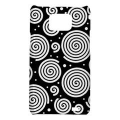Black and white hypnoses Samsung Galaxy S2 i9100 Hardshell Case