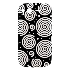 Black and white hypnoses HTC Desire S Hardshell Case