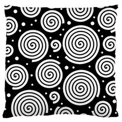 Black and white hypnoses Large Cushion Case (Two Sides)