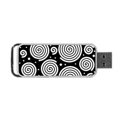 Black and white hypnoses Portable USB Flash (Two Sides)