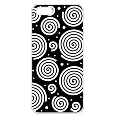 Black and white hypnoses Apple iPhone 5 Seamless Case (White)
