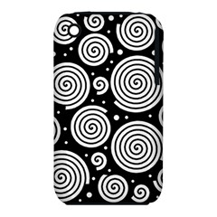 Black and white hypnoses Apple iPhone 3G/3GS Hardshell Case (PC+Silicone)