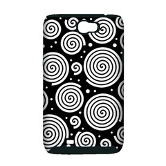 Black and white hypnoses Samsung Galaxy Note 2 Hardshell Case (PC+Silicone)