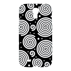Black and white hypnoses Samsung Galaxy S4 I9500/I9505 Hardshell Case