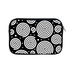Black and white hypnoses Apple iPad Mini Zipper Cases