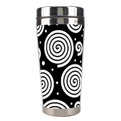Black and white hypnoses Stainless Steel Travel Tumblers