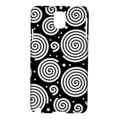 Black and white hypnoses Samsung Galaxy Note 3 N9005 Hardshell Case