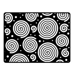 Black and white hypnoses Double Sided Fleece Blanket (Small)