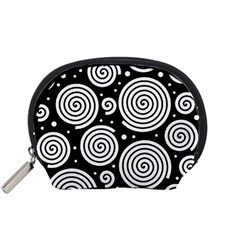 Black and white hypnoses Accessory Pouches (Small)