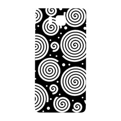 Black and white hypnoses Samsung Galaxy Alpha Hardshell Back Case