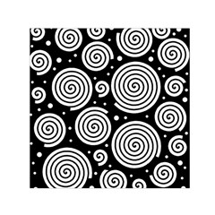 Black and white hypnoses Small Satin Scarf (Square)
