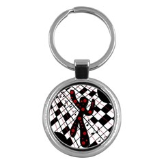 On the dance floor  Key Chains (Round)