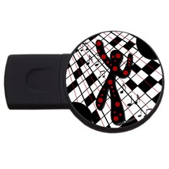 On the dance floor  USB Flash Drive Round (2 GB)