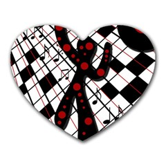 On the dance floor  Heart Mousepads