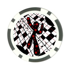 On the dance floor  Poker Chip Card Guards (10 pack)