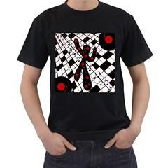 On the dance floor  Men s T-Shirt (Black)