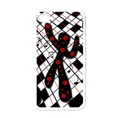 On the dance floor  Apple iPhone 4 Case (White)