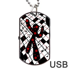 On the dance floor  Dog Tag USB Flash (Two Sides)