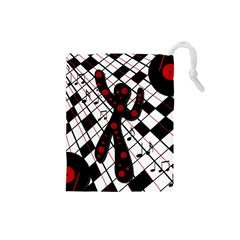 On the dance floor  Drawstring Pouches (Small)