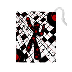 On the dance floor  Drawstring Pouches (Large)