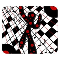 On the dance floor  Double Sided Flano Blanket (Small)