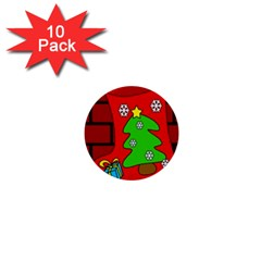 Christmas sock 1  Mini Buttons (10 pack)
