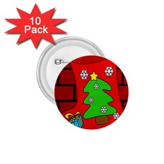 Christmas sock 1.75  Buttons (10 pack)