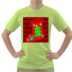 Christmas sock Green T-Shirt