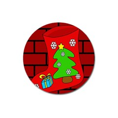 Christmas sock Magnet 3  (Round)