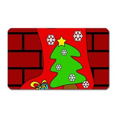 Christmas sock Magnet (Rectangular)