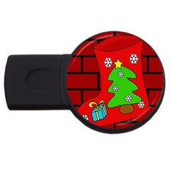 Christmas sock USB Flash Drive Round (1 GB)