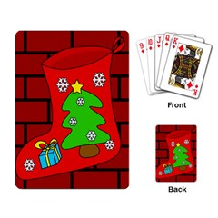 Christmas sock Playing Card