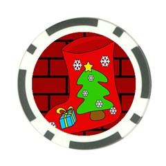 Christmas sock Poker Chip Card Guards (10 pack)