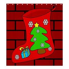 Christmas sock Shower Curtain 66  x 72  (Large)
