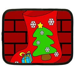 Christmas sock Netbook Case (XXL)