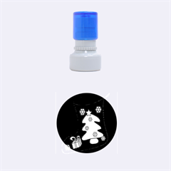Christmas sock Rubber Round Stamps (Small)